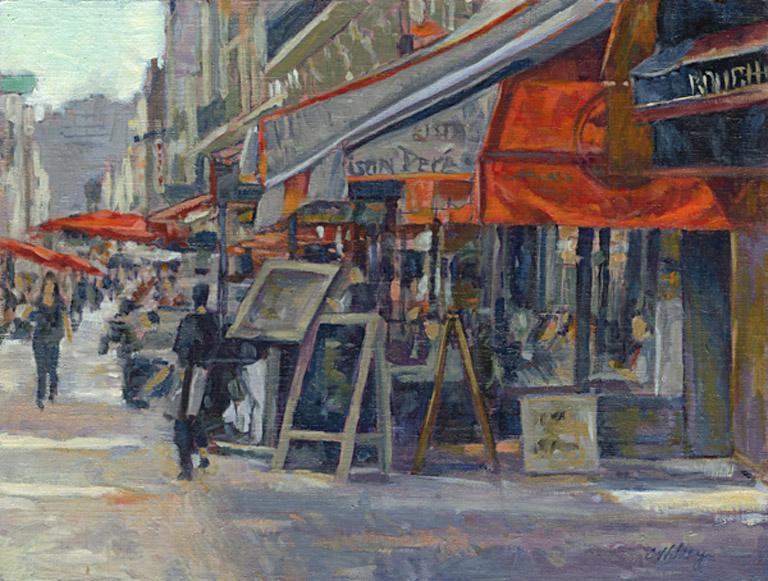 Paris Market Street 12x16 oc $500