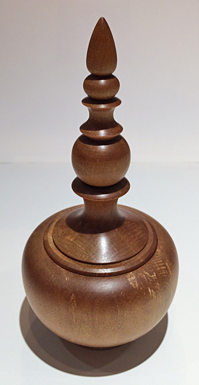 Lidded Box with Finial  6x3  mammoth kauri wood (New Zealand)  $110