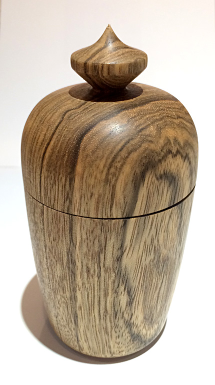 Sycamore Lidded Cannister  5x2.5  turned wood  $60