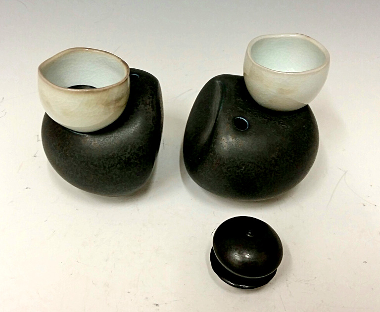 Nesting Cup Set #6 6x6x4 porcelain $78