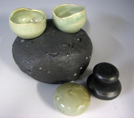 Nesting Cup Set #10 6x6x3 porcelain $64