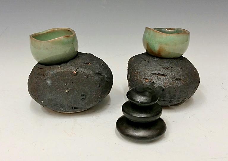 Nesting cup set #12 6x5x3 porcelain $56