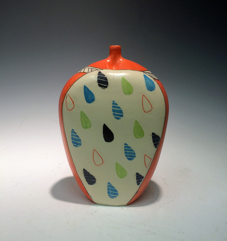 Drops and Dashes Bottle  7x5x3  ceramic  $75