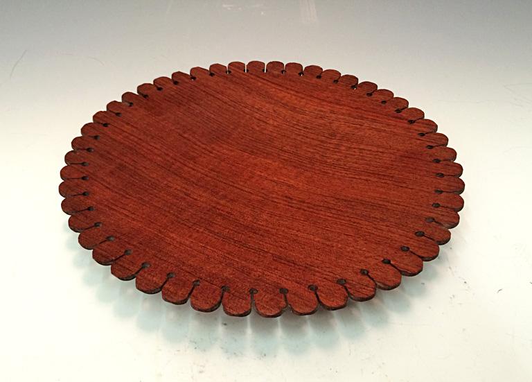 Petal Platter 1.5x10x10 bubinga (African Rosewood) $115