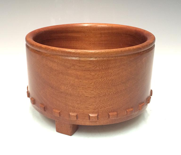 Sacred Vessel Series - Aztec Sacrafice Bowl II 3.5x5.5x5.5 horigo negro wood (Macacauba) $125