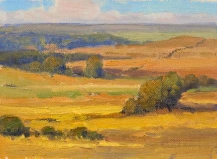 Prairie Pattern Study 6x8 oc $550
