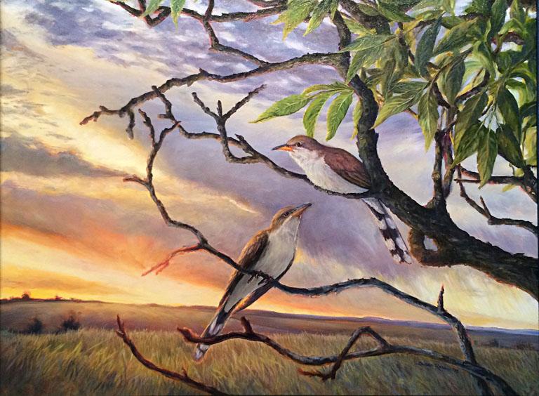 Rain Crows 18x24 oc $750 fr