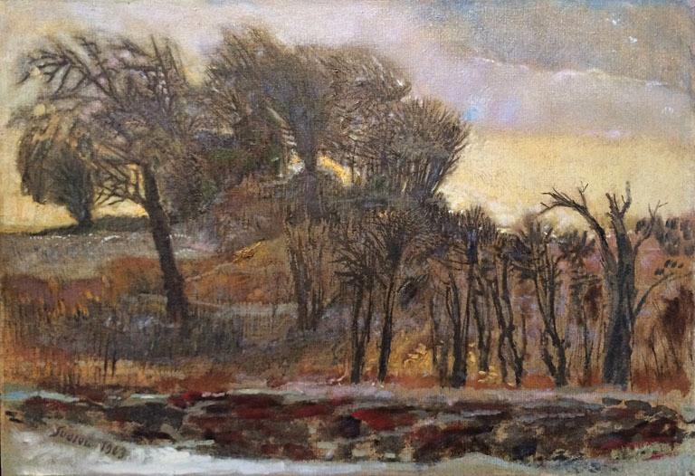 Winter Sketch (1963) 18x26 oc SOLD