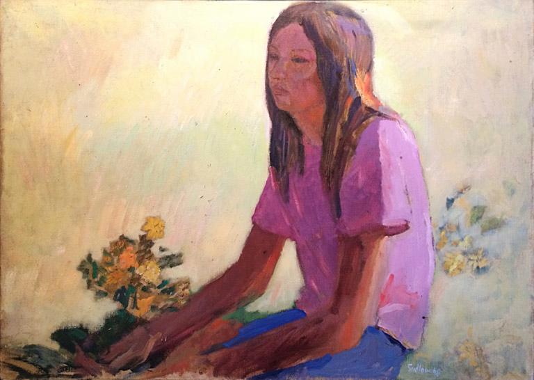 Gretchen in Afternoon Sunlight (1968) 26x36 oc $3,000