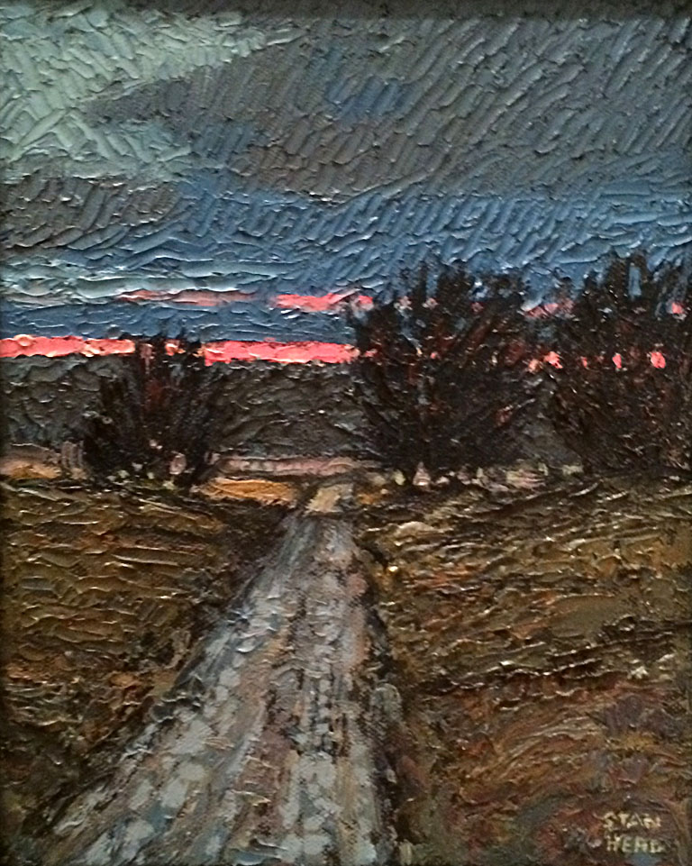 Road Under a Spackled Sky  10x8  oc  $600 fr