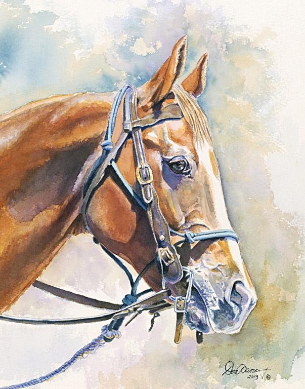 Horse Head Study 11x14 wc $875 fr