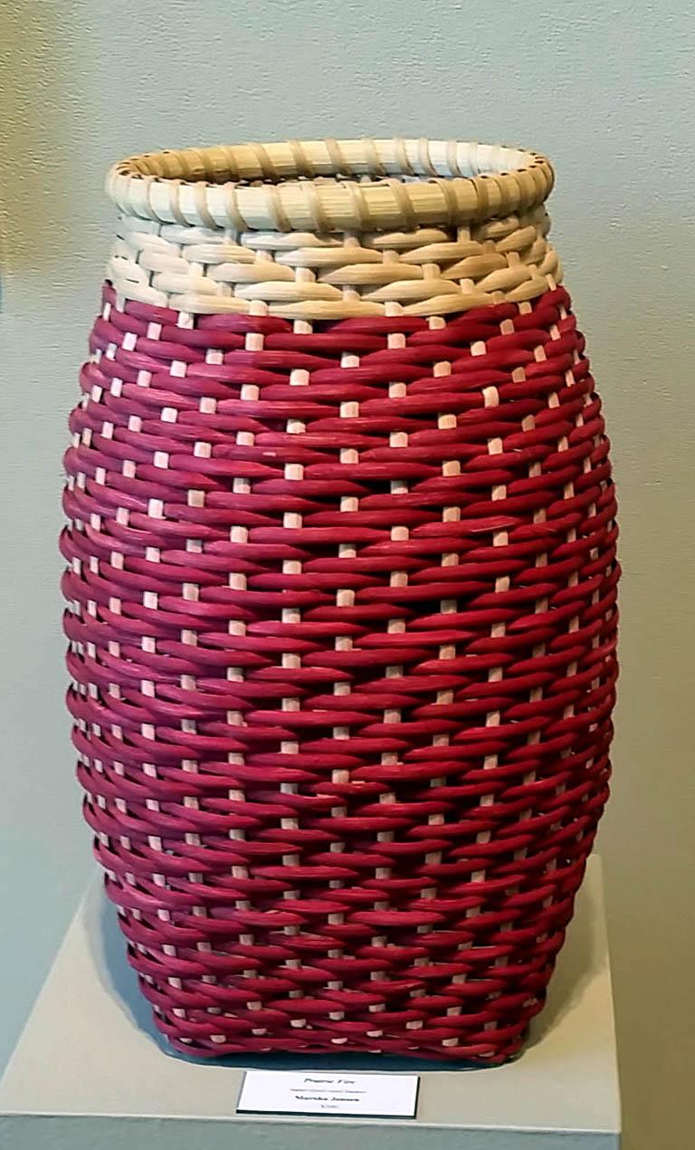 Prairie Fire 17x10 hand-dyed woven basket $300