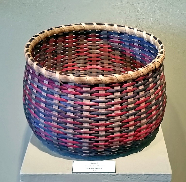 Sunset 12x13x13 hand-dyed woven basket $250
