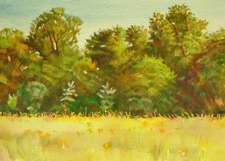 Field, Trees 10X14 oc $350 fr