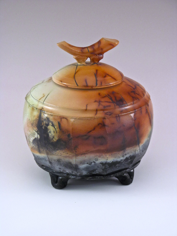 Lidded Pot (#32)  7.5x7.5  ceramic  $250