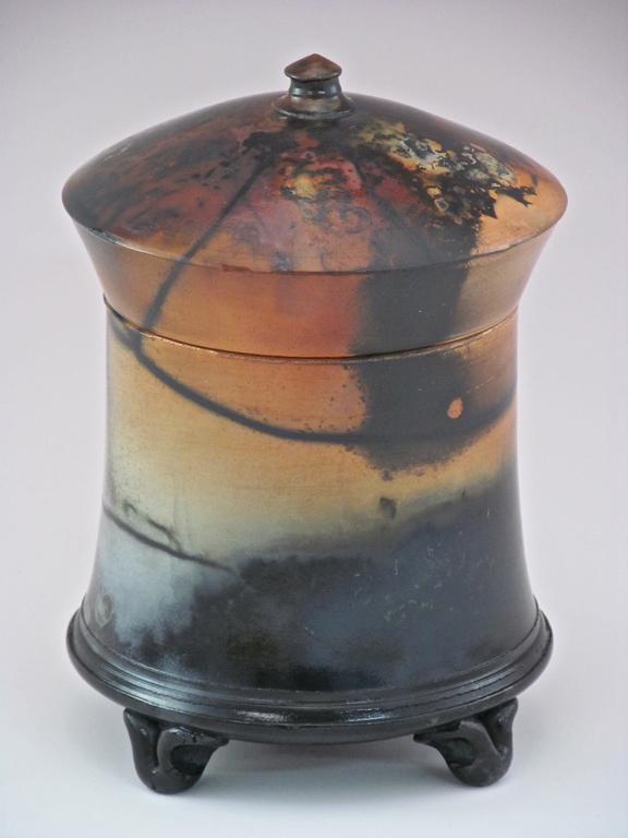 Lidded Box - Saggar (#37) 6.75x5 ceramic $225