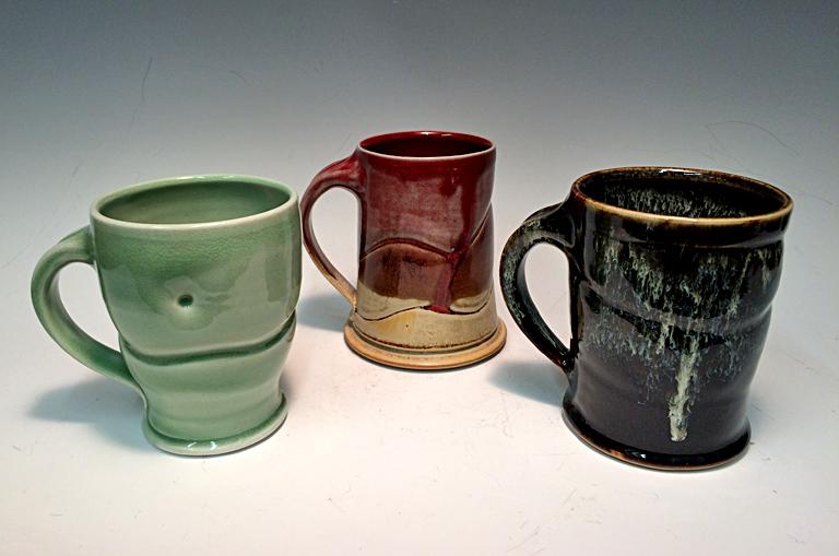 Assorted ceramic mugs, $30 - $35 ea.