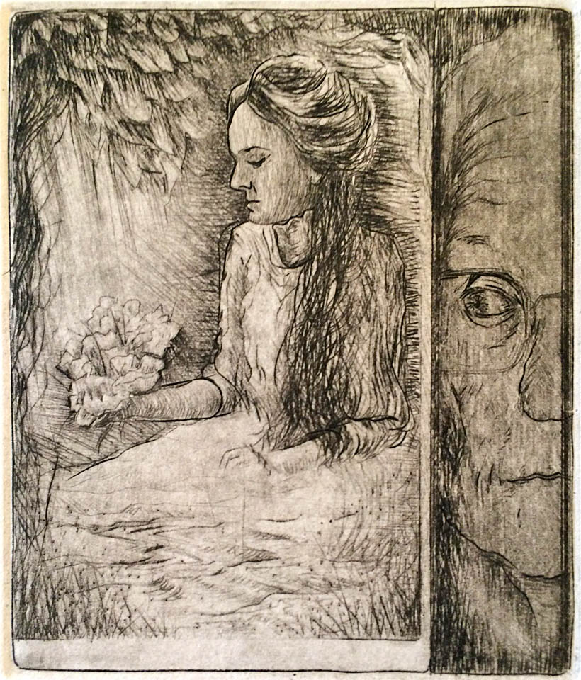 Eva, 5 of 15  5x4  dry point  $140 fr