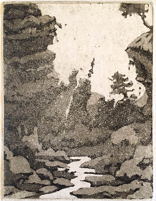Far Country, 24 of 25  6x4.5  aquatint  $80 uf