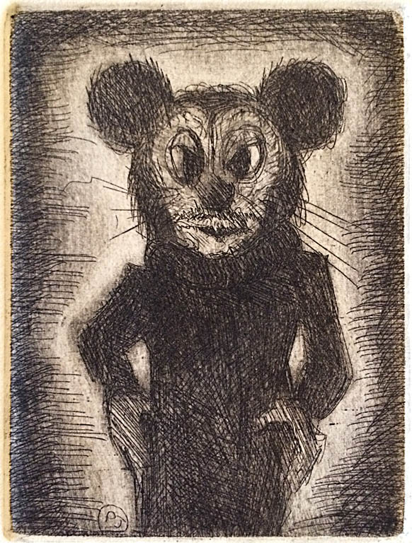 Mouse, 20 of 50  4x3  drypoint  $140 fr