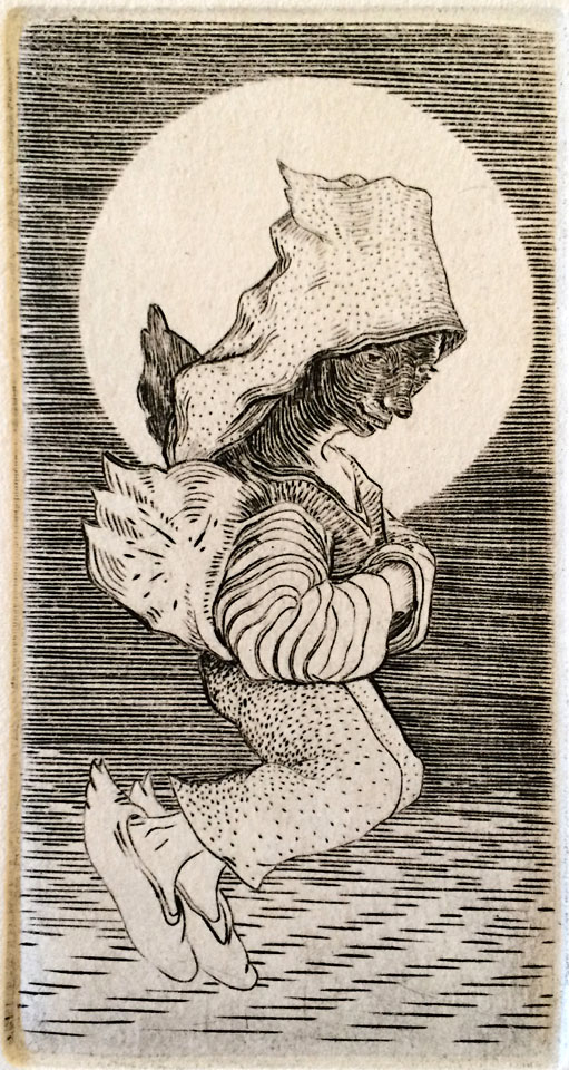 Small Angel, 10 of 50  5x2.5  engraving  $80 fr