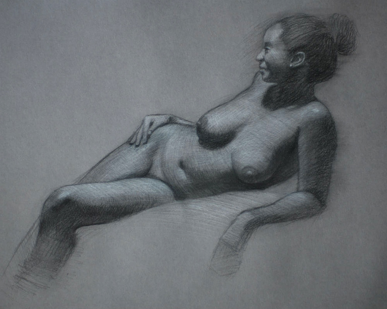 Sinuous  15x18  charcoal  $650 fr
