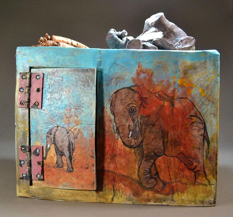 Interactive Elephant Box 15x15x13 ceramic, mm $1,325