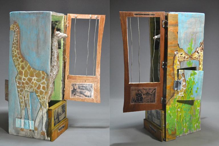Interactive Giraffe Box 20x11x11 ceramic, mm SOLD