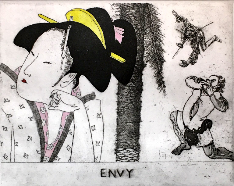 Envy  6x8  etching  $350 fr