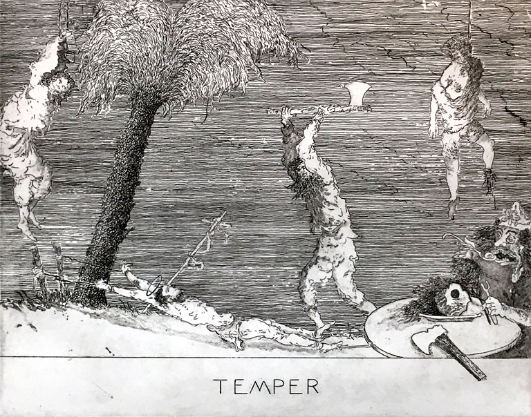 Temper 6x8 etching $350 fr