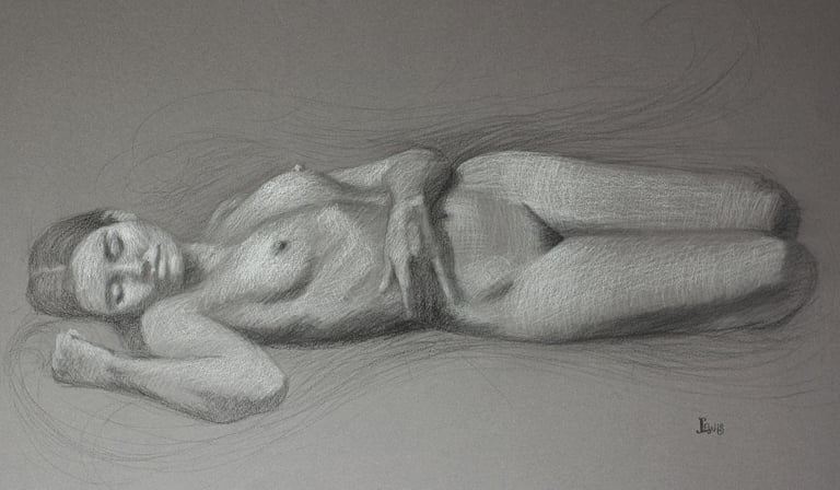 Reverie  13x20.5  charcoal  $625 fr