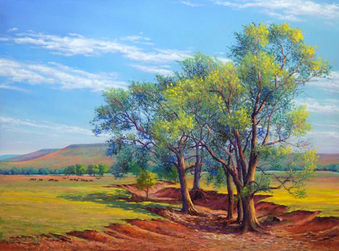 Prairie Sentinels 18x24 pastel $925