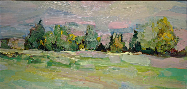 Evening Tree Line  12x24  oc  $750