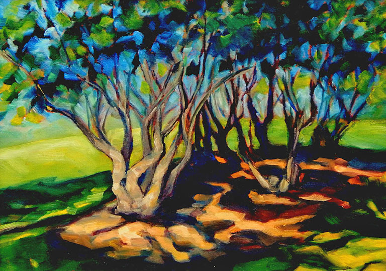 Sunlit Grove 16x20 oc $800 fr