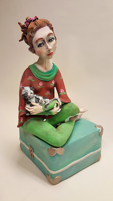 Before I Go  22.5x15x13  ceramic  SOLD
