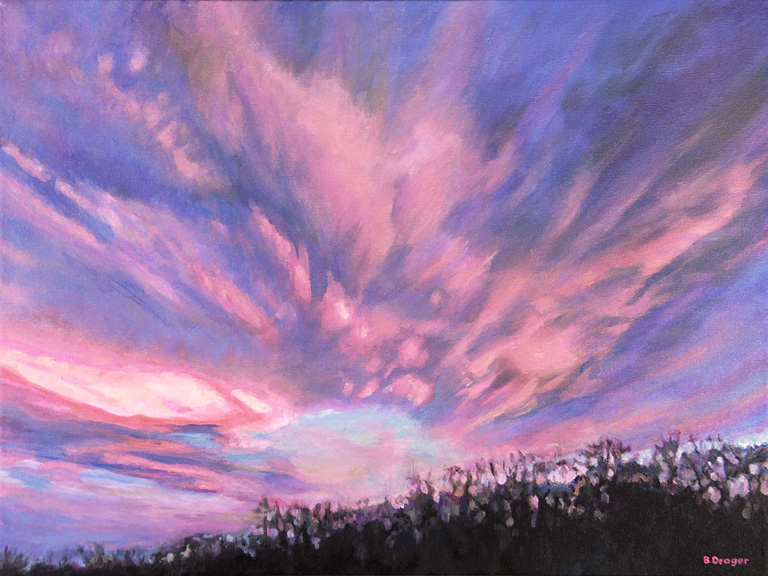 Bursting with Pink  18x24  ac  $1,100 fr