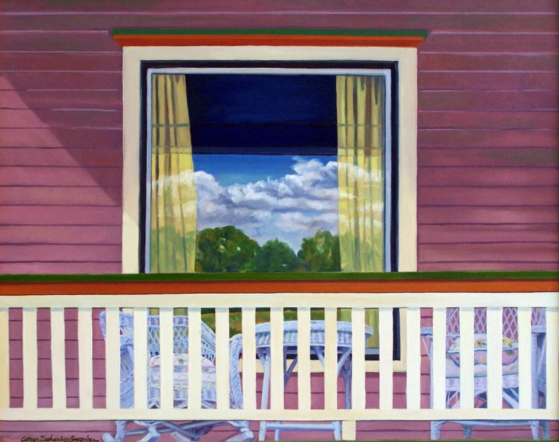 Clouds On the Front Porch 24x30 oc SOLD