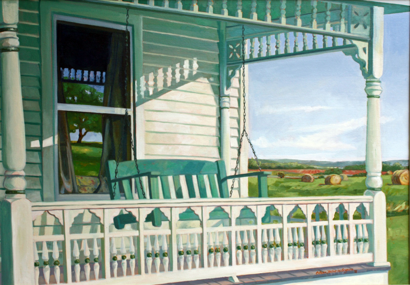 Victorian Porch in the Country 28x40 oc SOLD
