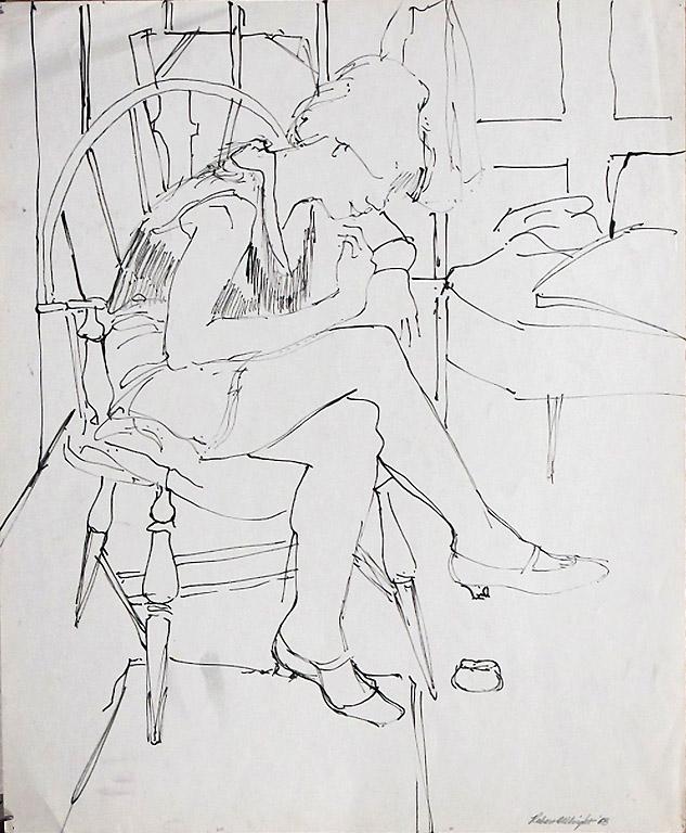 Capezio (#12) 17x14 ink $440 fr