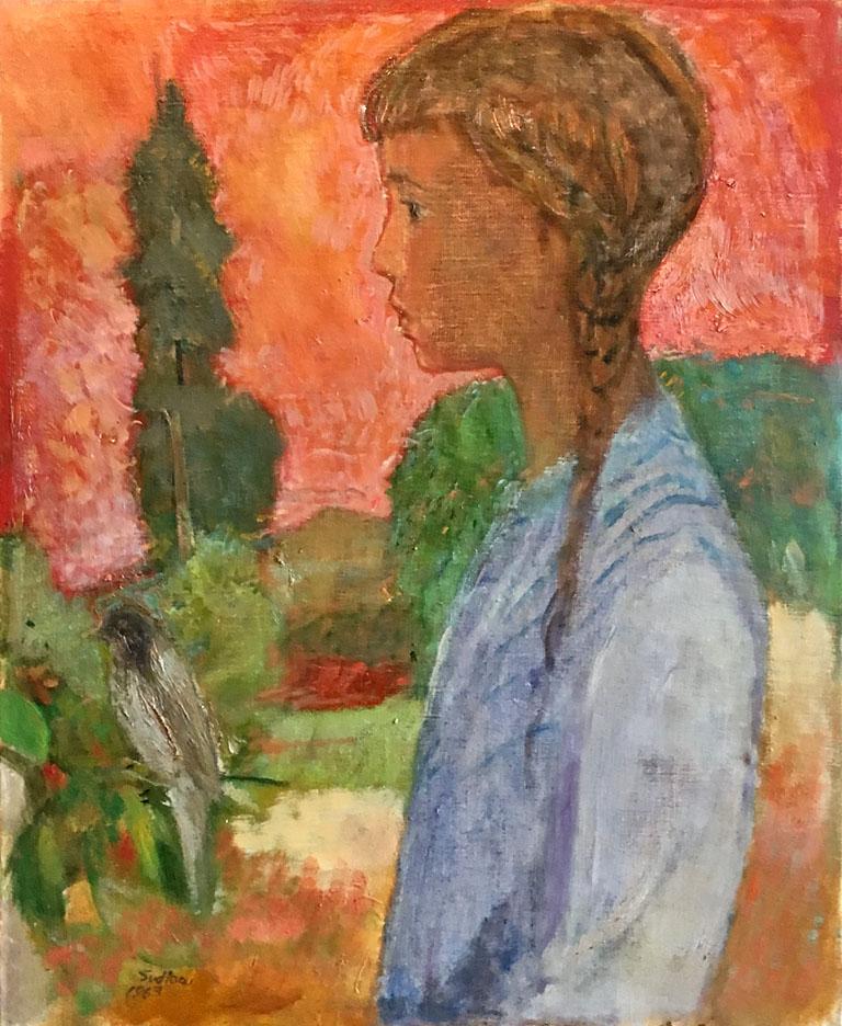 Bird and Girl (1963) 22x18 oc $1,800 fr