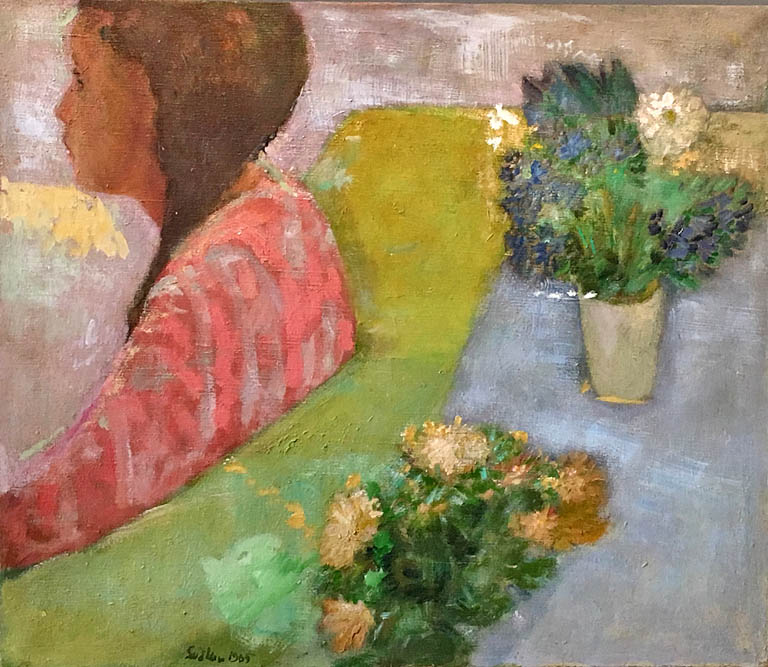 Interior with Flowers (1965) 19x22  oc  $1,370 fr