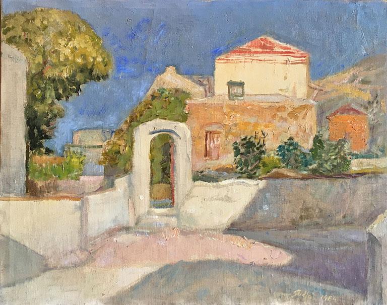 Kalymnos House (1964) 18x21.5 oc $1,975 fr