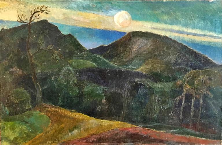 Night Landscape with a Running Fox 26x40 oc $3,315 fr