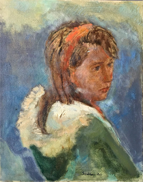 Portrait, Mitzi (1966) 20x16 oc $1,350 fr