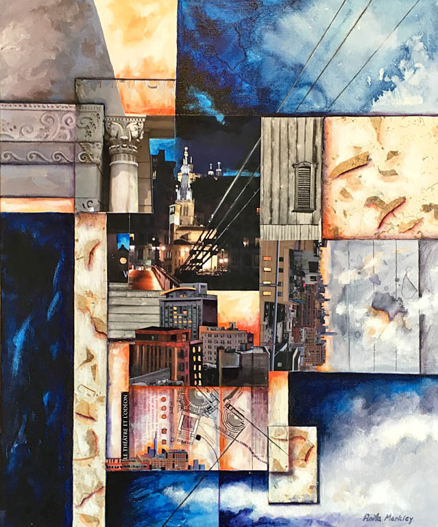 Structure and Light  24x20  ac  SOLD
