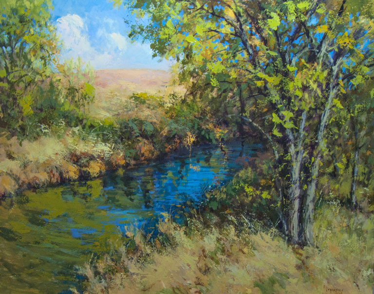 Fall on the Cottonwood  16x20  op  $1,650