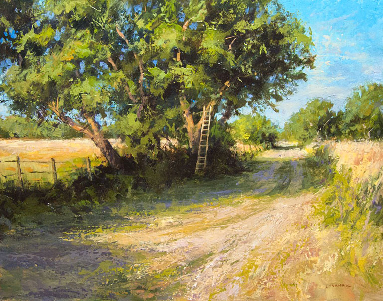 Under the Mulberry Trees  11x14  op  $875