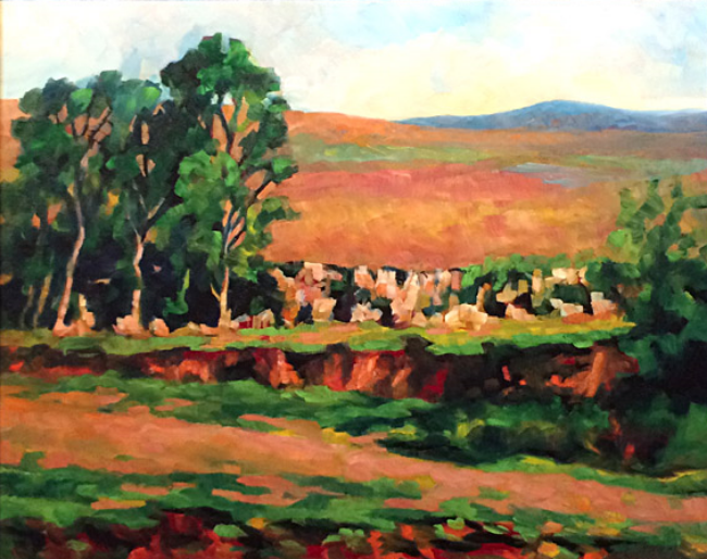 Ever Changing Flint Hills  24x30  oc  $1,400 fr