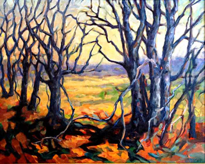 Life in the Tree Line   24x30  oc  $1,250 fr