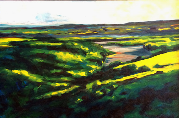 Overlook at Evening  24x36  oc  $1,600